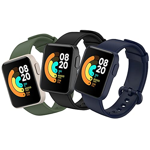 BDIG 3 Pcs Correas Compatible para Xiaomi Mi Watch Lite/Redmi Watch,  Mi Watch Lite Pulsera Colorido Suave Silicona Reloj Recambio Brazalete Impermeable Correa para Redmi Watch / Xiaomi Mi Watch Lite