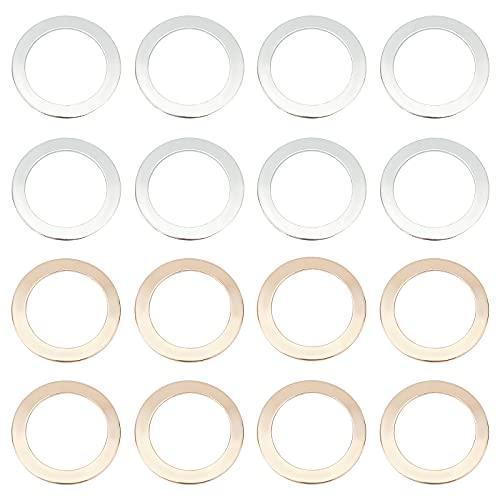 PandaHall 60 pendientes de 3 colores de 20 mm, pendientes de aro de abalorios, anillos redondos de enlace, marcos, conectores para hacer joyas, pendientes, collares, suministros de manualidades