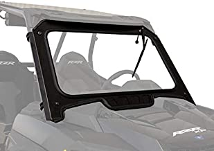 SuperATV Vented Glass Front Windshield for 2019+ RZR XP Turbo / 2019+ RZR XP-4 Turbo | Aluminum Frame with DOT Approved Laminated Safety Glass | Includes Manual Wiper!