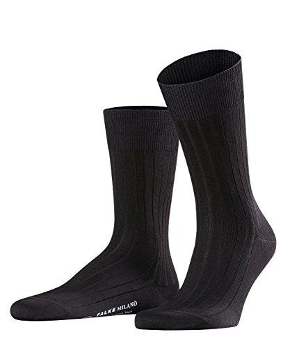 FALKE Milano Chaussettes Homme Noir (Black 3000) 39/40 (Taille fabricant:39-40)