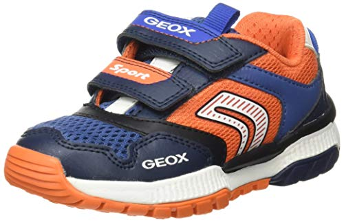 Geox J Tuono Boy A, Scarpe da Ginnastica Basse Bambino, Blu (Navy/Orange C0659), 28 EU