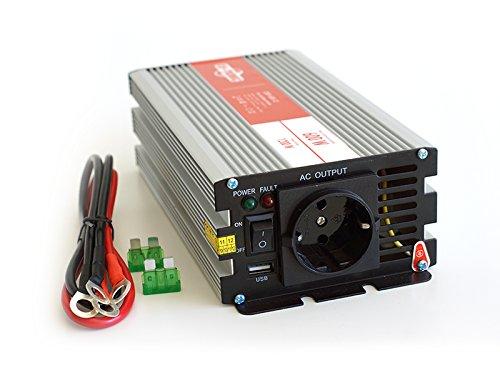 ★-Transformador de onda senoidal pura 12 a 220 V, 600 w USB salida, 1A Marca de...