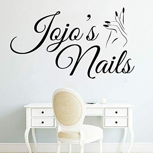 JXWH Nail Beauty Salon wandtattoo manicure ontwerp vrouw hand raam sticker vinyl afneembare nail art nail salon decoratie muurschildering