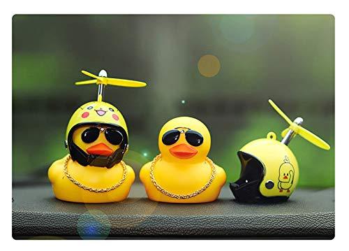 BSGP Auto-Dekoration, kreativ, niedlich, mit Helm, kleine gelbe Ente, Puppe, Auto-Zubehör für Auto, Innendekoration, Fahrräder, Motorräder, Kindergeschenk (Hai) - 6