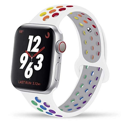 Correa para apple watch band 44mm 40mm 42mm 38mm silicona para iwatch pulsera para apple watch series 5 4 3 SE 6