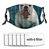 VORMOR Strong French Bulldog The Best Companion Dog Dust Washable Reusable Filter and Reusable Mouth Warm Windproof Cotton Face