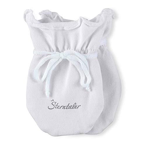 Sterntaler Baby - Mädchen Fäustlinge Kratzfäustel, Gr. Neugeboren (Herstellergröße: 0), Weiß (weiß 500)