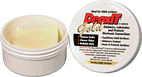 DeoxIT GoldWipes 100% Contact Conditioner 50 count  G50W
