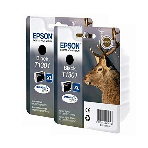Epson T1301 x2 Original, Packung mit 2 Tintenpatronen, schwarz
