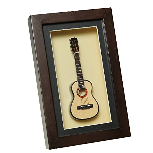 Ambiente Haus 81015 Wandschmuck Gitarre im Rahmen 22 x 14 cm