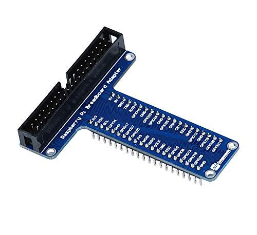 sb components Raspberry Pi Breadboard Adapter Development Raspberry Pi Expansion Board, GPIO Breakout Adapter Plate Breakout Mini for Raspberry Pi 4B/3B+/3B/2B/B+/A+/Zero and Zero W