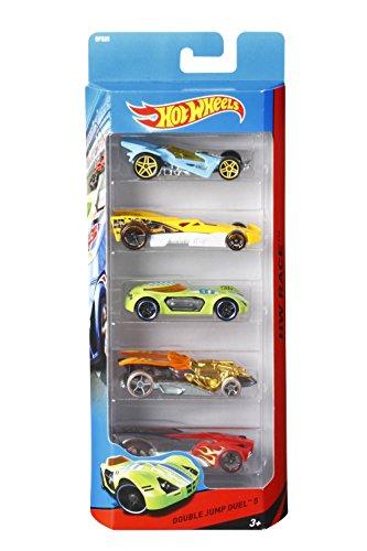 Hot Wheels 1806 - Geschenkset, je 5 Fahrzeuge, zufällige Autos/Fahrzeugmodelle, 5er Pack