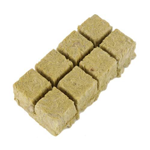 Cabilock 8 Pièces Bouchons de Plantes en Laine de Roche Hydroponiques Cubes de Médias de Culture Bouchons de Démarrage de Jardin Poussent des Cubes pour La Plantation de Semis