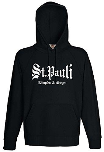 St. Pauli Herren Kapuzensweat kämpfen und Siegen HoodieXL