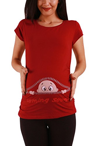 Coming Soon - Moda premamá Divertida y Dulce/Camiseta premamá Sudadera con Estampado Durante el Embarazo, Manga Corta