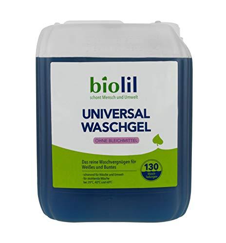 biolil bio Waschgel - Waschmittel 5,0 Liter für bis zu 130 mal reines Waschvergnügen für Buntes und Weißes