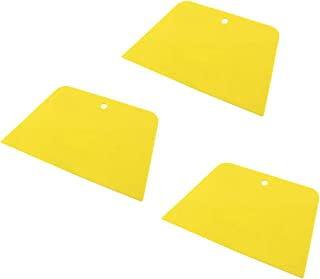 Autoly 3 Pcs Plastic Wall Ceiling Painting Oil Paint Scraper for Applying Fillers, Putties, Glazes, Caulks and Paint (Yellow)