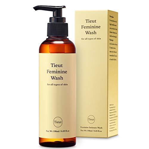 Tieut Feminine Wash 200mL - Women's Gentle Intimate Wash - Vaginal Wash for Odor Block - Hypoallergenic - pH-Balanced - Organic Vaginal Soap and Cleanser