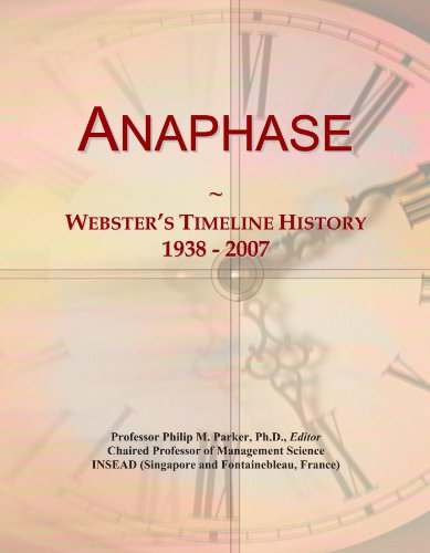 Anaphase: Webster's Timeline History, 1938 - 2007