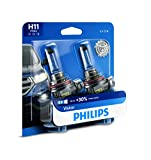 Philips H11 Vision Upgrade Headlight Bulb with up to 30% More Vision, 2