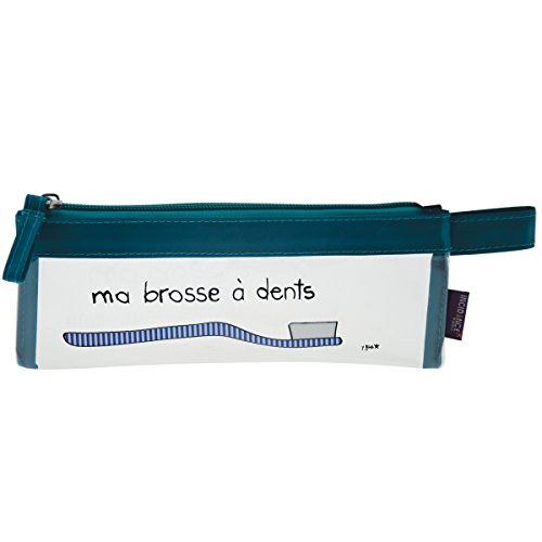 Incidence Paris Blue Basics Trousse de Toilette, 21 cm, Transparent