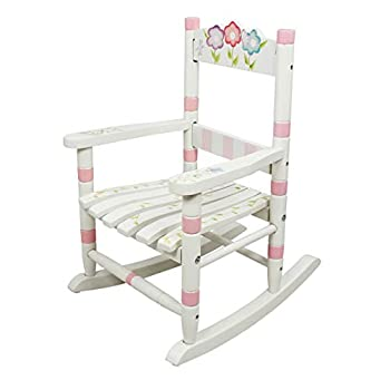 Fantasy Fields - Bouquet Thematic Child Wooden Small Rocking Chair | Imagination Inspiring Hand Crafted & Hand Painted Details Non-Toxic Lead Free Water-based Paint
