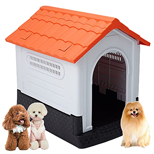 Caseta de Perros para Exterior y Interior, Casa para Perros, Caseta de Jardín para Perro Grande/ Mediana/ Pequeña, Casa Perro Caseta Perros...