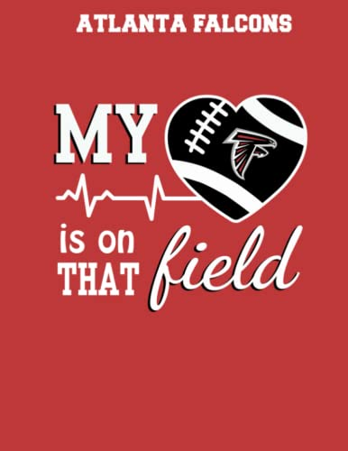 Atlanta Falcons: Football My Heart is on that Field Notebooks, Logbook, Journal Composition Book Dot Graph 110 Pages 8.5x11 in