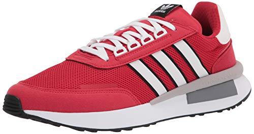 adidas Originals mens Retroset Sneaker, Scarlet/White/Black, 11.5 US