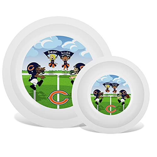 Baby Fanatic NFL Legacy Infant Plate & Bowl Set, Chicago Bears, for Ages 6 Months & Up