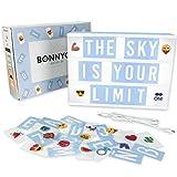 Light Box Bleue avec 105 Lettres, 60 Emojis et USB - BONNYCO | Ç Inclus | Boite Lumineuse Message Decoration Chambre Garçon &...