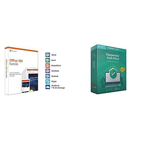 Microsoft Office 365 Famille + Kaspersky Anti-Virus 2019 3 Postes