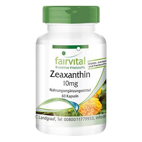 Zeaxantina 10mg - VEGANO - Dosis elevada - 60 Cápsulas - Calidad Alemana