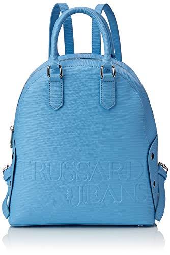 Trussardi Jeans Melly Backpack, Zaino Donna, Blu (Light Blue), 26.5x30x11 cm (W x H x L)