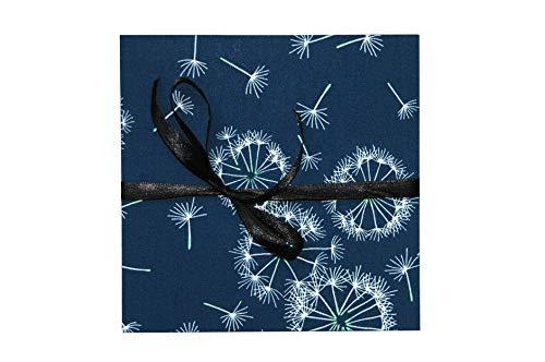 Leporello Fotoalbum mit Stoff 17x17cm, blau/petrol