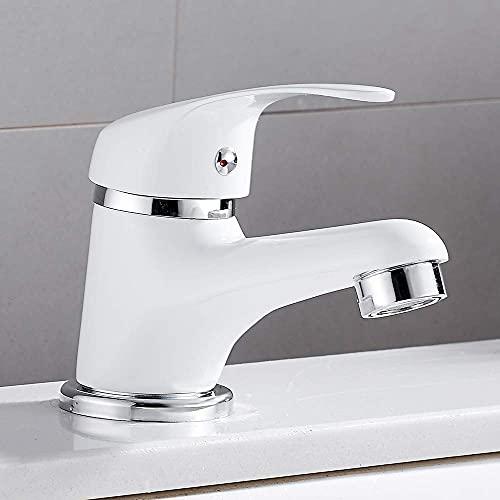 Grifos de lavabo de baño duraderos Grifo de lavabo de baño: todo el material de superficie de cobre, núcleo de cobre de cerámica, agua doble fría y caliente, manguera de desodorante de acero inox