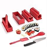 Amiispe Kit para Hacer Sushi, Kit Completo para Hacer Sushi, Juego para Hacer Sushi de Bricolaje con Cuchillo para Sushi, fácil de Usar y práctico