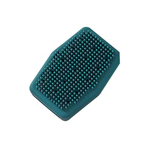 WWWL Cepillo para el cuerpo 1 pc de silicona cepillos de baño de pelo lavado cuerpo espalda masaje ducha exfoliante piel limpieza profunda cepillos de ducha baño spa belleza herramientas azul1pc