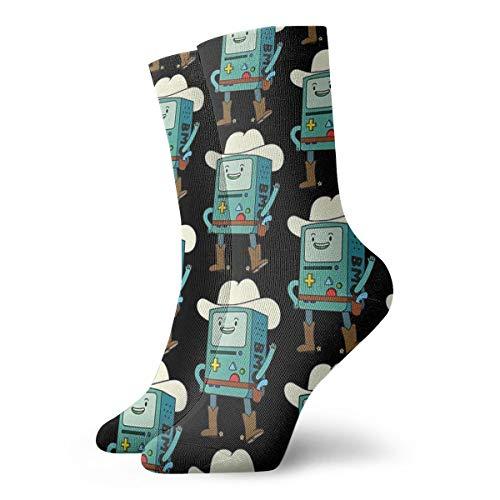 popluck Davis-Lee Bmo Cowboy Socks Novelty Low Cut Socks Personalised Socks 11.8inch/30cm For Women&Men