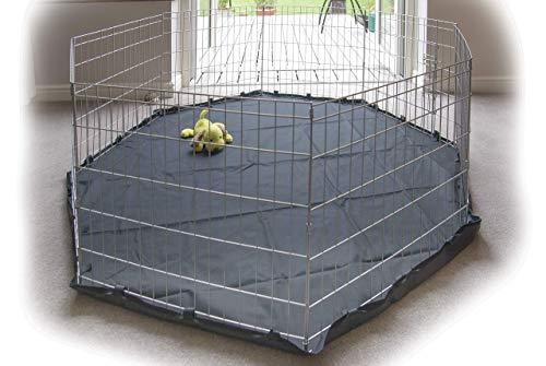 Speedwellstar - Stuoia, Tappeto, Pavimento per 8 lato grande Pet Pen Run base antiscivolo tappetino resistente impermeabile nero universale. Gabbia non inclusa