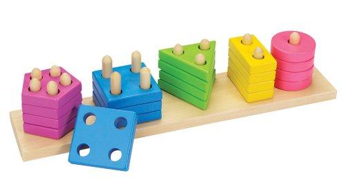 Goki 58927 58927-Farben-und Formen Sortierspiel