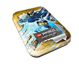 LEGO 180361 Ninjago Serie IV, Tin Dose gelb, 5 Booster, 2 Limitierte Goldkarten und Figur