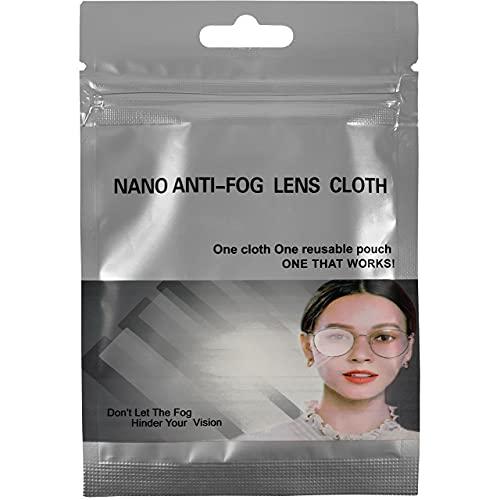Toallitas antivaho para gafas reutilizable, mejor gamuza antivaho para gafas. Paños de microfibra para cristales limpia vaho mascarillas. No foggy.