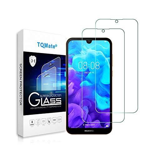 TQmate 2Pack, Kompatibel für Huawei Y5 2019/Honor 8S Panzerglas, Bildschirmschutzfolie, gehärtetes Glas mit 9H Festigkeit, Kratzfest, ölgeschützt, 2.5D Ro& Edge
