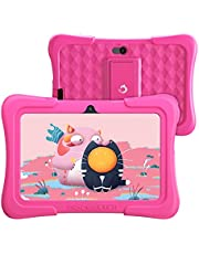 Dragon Touch キッズタブレット 子供用タブレット Android10.0 RAM2GB/ROM32GB 7インチ 目に優しい Wi-Fiモテル HDディスプレイ KIDOZ対応 GPS付き 学習/オンライン授業/子供プレゼントに適用 子供向け Y88X (pink)