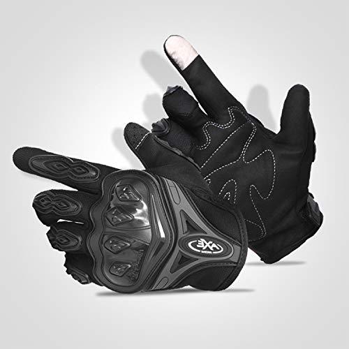 FitTrek Motorbike Handschoenen Touch Screen Motorfiets Handschoenen Bescherming Volledige Vinger voor Motorfiets Fietsen Wandelen Outdoor Sport Mannen Vrouwen