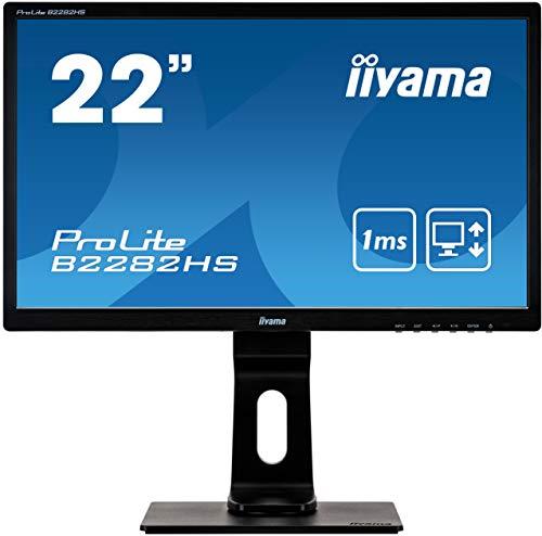 iiyama Prolite B2282HS-B1 Ecran LED TN 21,5' Full HD 5 ms VGA/DVI/HDMI Pied réglable en hauteur...