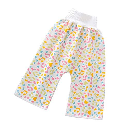 HWTOP Body Waschbare Windel Bequeme Kinderwindel wasserdichte und Auslaufsichere Shorts mit Elastischer Taille, Gelb, 4-8 Jahre
