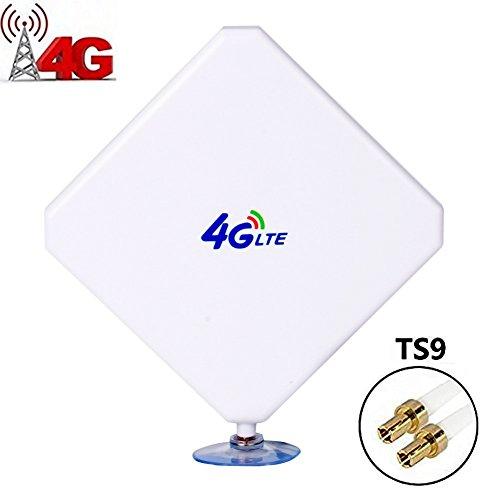 TS9 4G Hochleistungs LTE Antenne 35dBi Netzwerk Ethernet Verstärker-Antenne Richtantenne Signalverstärker Verstärker für Huawei E5372 E398 E3276 E392 E3272 E8278 R212 MF93 R215 etc