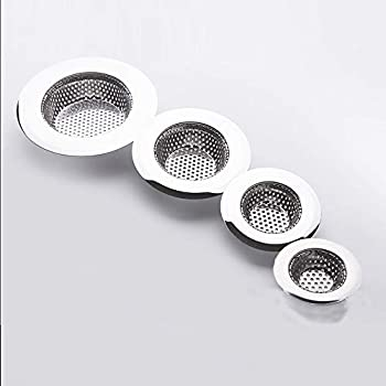 Hair Catcher Shower Drain 4 Pack  Bathtub Drain Cover Sink Tub Drain Stopper Sink Strainer for Kitchen and Bathroom Hair Stopper for Bathtub Drain Cover Size from 1.5   to 4.45    Round hole